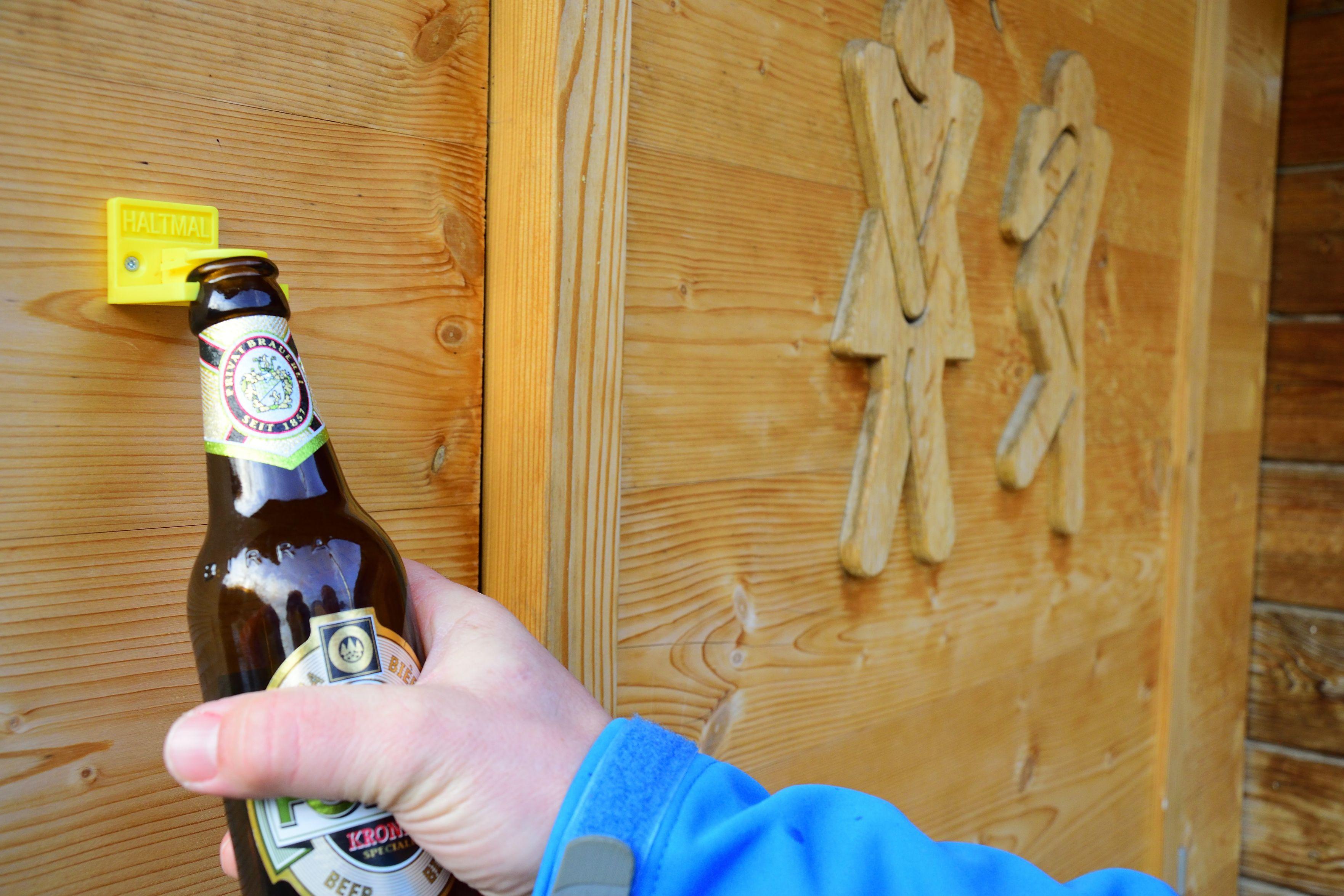 HALTMAL, der Bierflaschenhalter